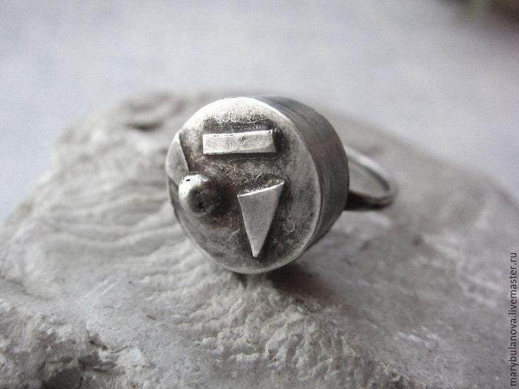 Купить Серебряный перстень с геометрическими фигурами - серебряный, перстень, кольцо из серебра, серебряное кольцо