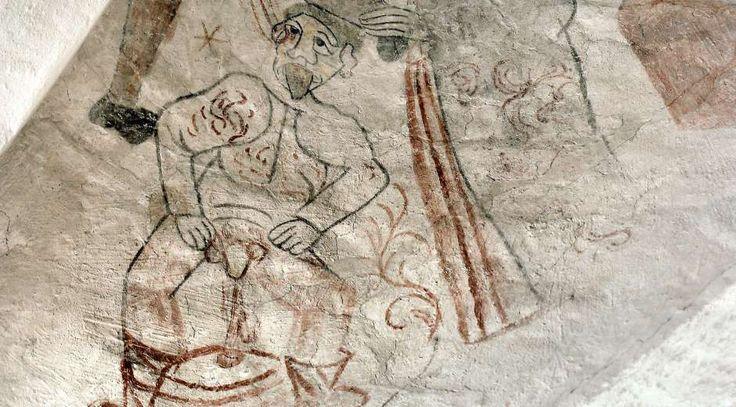 Kalkmalerier i både danske og udenlandske kirker har indgået i arkæolog og museumsinspektør Jette Linaas ...