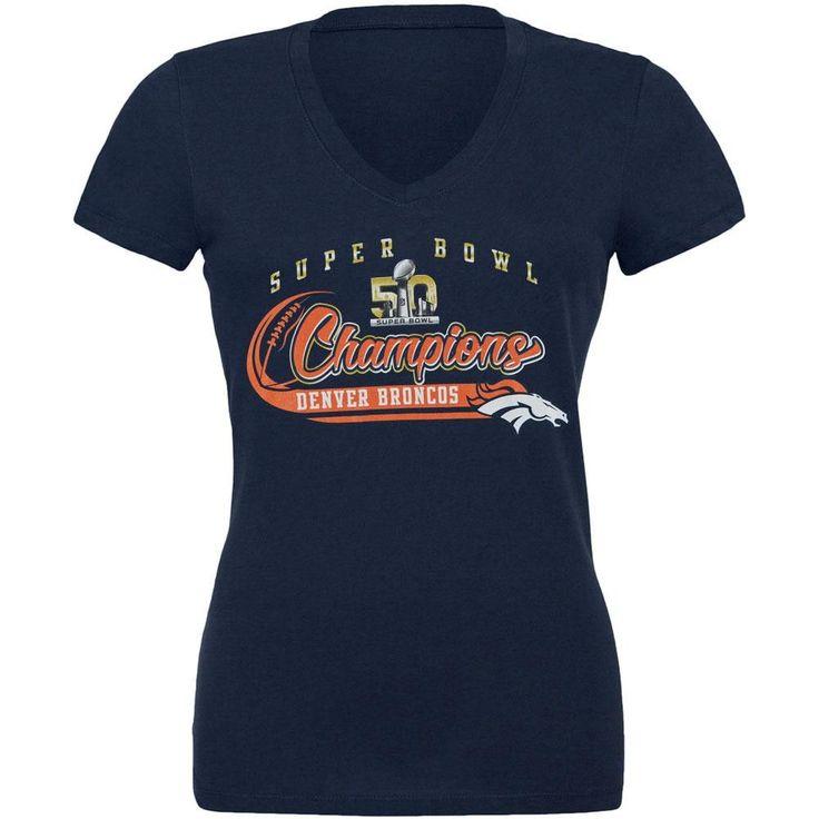 Denver Broncos - Super Bowl Champions Juniors Slubbed V-Neck T-Shirt