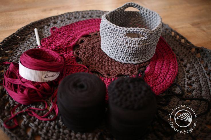 Jesienne wieczory ;)   Autumn evenings ;)  szydełkowanie, crochet, sznurek bawełniany, t-shirt yarn