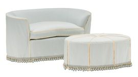 Austin Loveseat  Traditional, Transitional, Upholstery  Fabric, Wood, Settee by Nancy Corzine