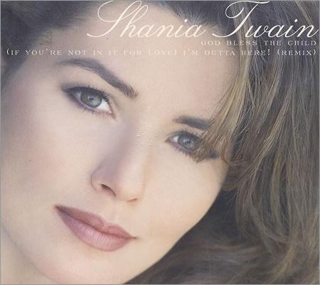 Shania Twain...God Bless The Child, single cover