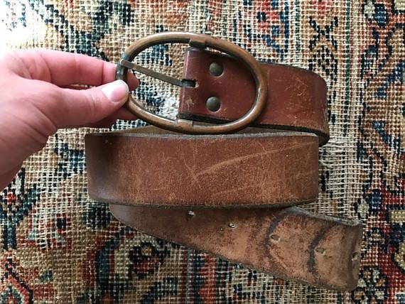 Vintage Brown Leather Belt Thick Wide 70s Distressed Leather Etsy Distressed Leather Belt Brown Leather Belt Vintage Leather Bag