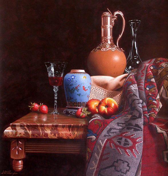 Mark Thompson, Still Life with Delft Jar