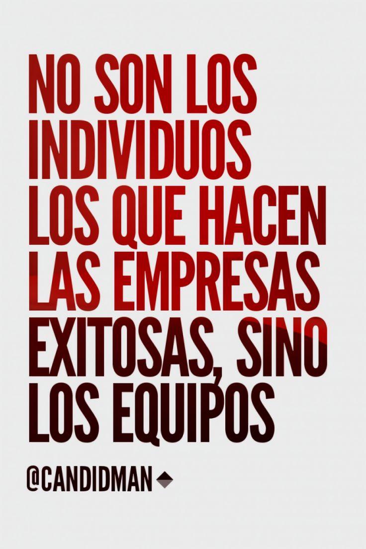 """""""No son los individuos los que hacen las #Empresas exitosas, sino los #Equipos""""…"""