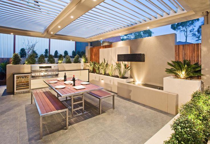 Outdoor entertaining area. Project by COS Design.