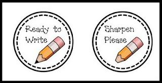 labels for pencil containers