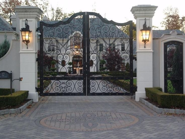 Stunning gate ~mansions | French Colonial Mansion on the Market in Ritzy Alpine « Homes of the ...