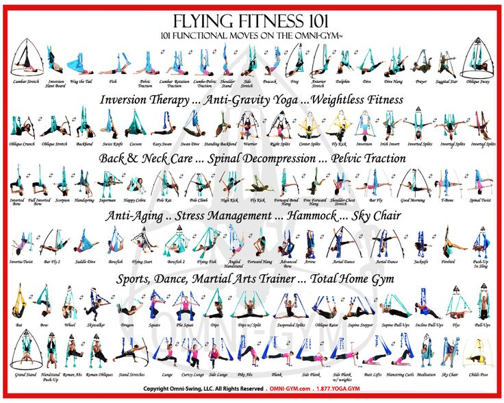 You can get into a seemingly endless amount of positions on the right yoga swing.  Click on the image to see Tone's website.