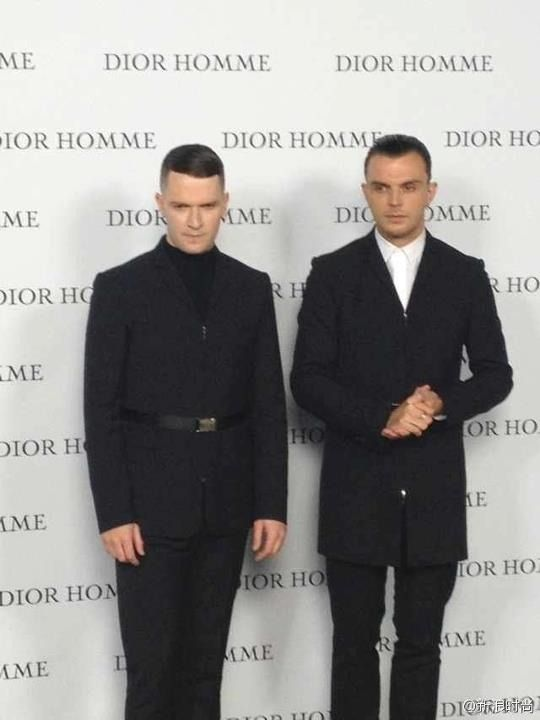 Hurts at DIOR HOMME F/W 2013