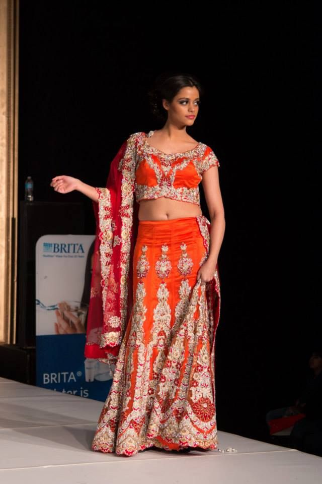 Radiant Red design Chandan Fashion design from the 2014 Suhaag Wedding Show!
