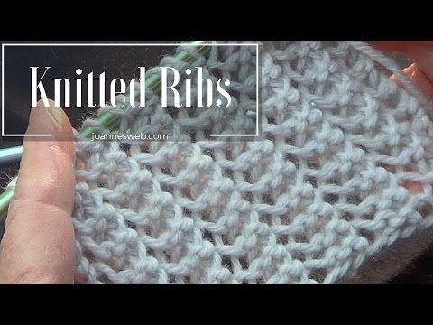 Rib Stitch | Knitted Rib Stitch | Super Easy and Fast - YouTube