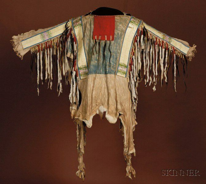 Plains Beaded, Quilled, and Painted Hide War Shirt