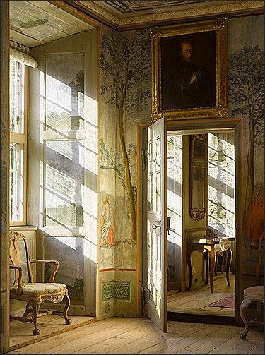 Dining Room, Trees Wallpapers, Interiors Design, Country Decor, Painting Trees, Painting Wall, Country Life, Painted Walls, Mornings Lights
