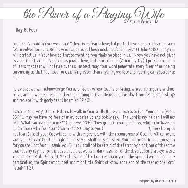 30 Prayers from the Power of a Praying Wife and Parent (Day 8)