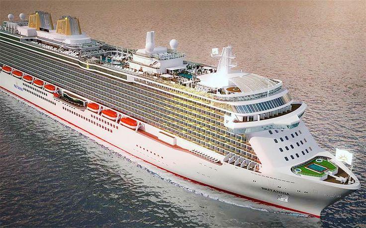 """Строящийся в Италии новый круизный мегалайнер компании P&O Cruises будет называться """"Britannia"""""""