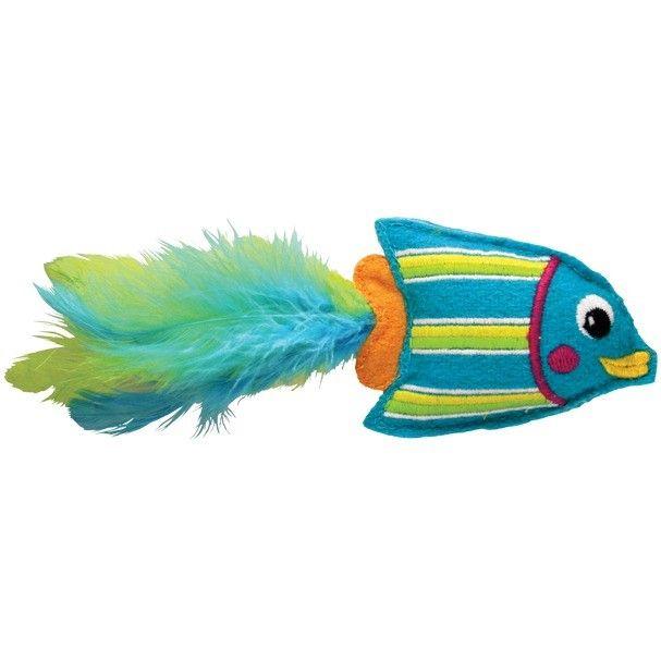 Kong Tropics Fish Blue Cat Toy | Fraser Promotions Ltd