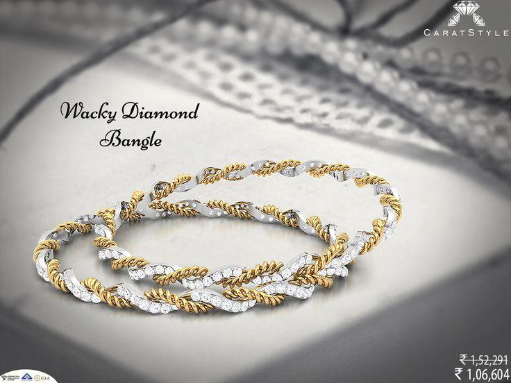 Do more what makes you sparkle. #diamond #gold #bangle #diamondbangle #goldbangle #bangleonlineshopping #casualbangle #singlelinebangle #fashion