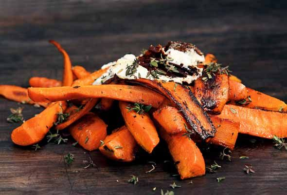 Burnt Carrots with Goat Cheese Recipe   Leite's Culinaria