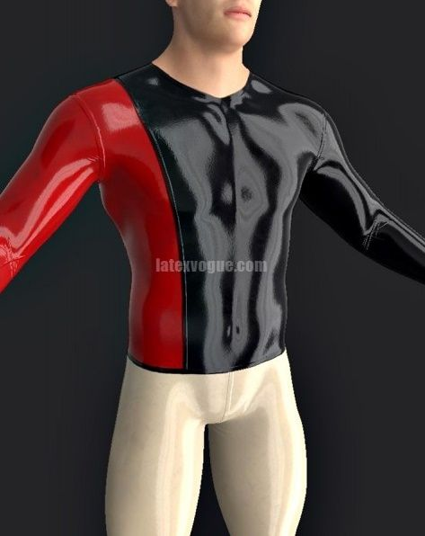 #Latex two colored #tshirt with long sleeves :)  More at: www.latexvogue.com #latexshop #latexdesigner #latextshirt