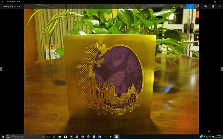 Tattered Lace Melded Church Die using Stampin Up's 12 x 12 gold foil cardstock.  Square base cardstock from Marco Papers - by Susan June 2016 Anniversary Collection