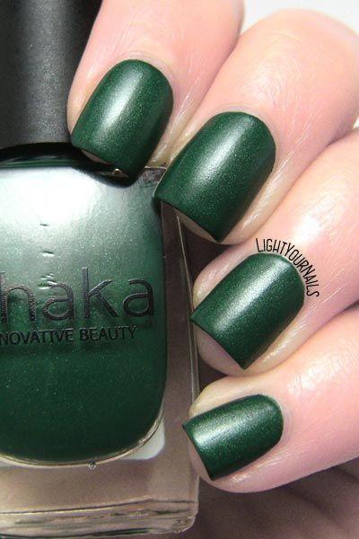 Smalto Shaka Green Forest Matt nail polish @shakabeauty @ovsofficial