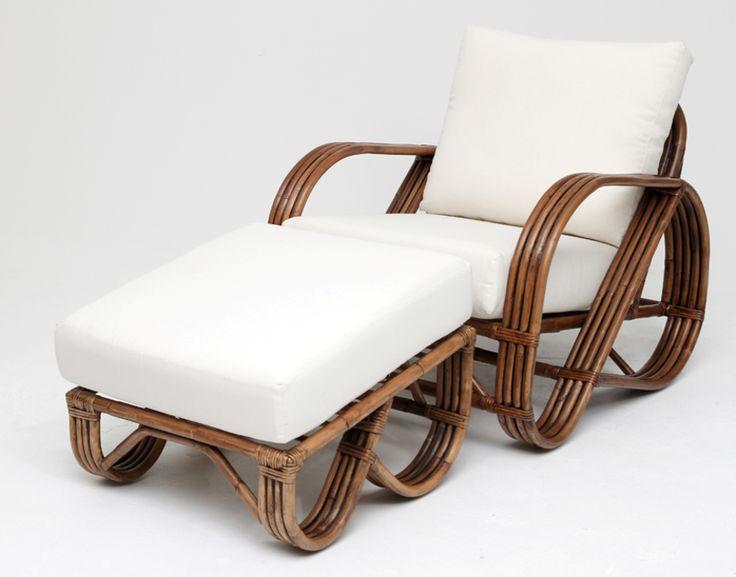 Pretzel Lounge Chair l Eco Friendly Cane Arm Chairs l Rattan Chairs