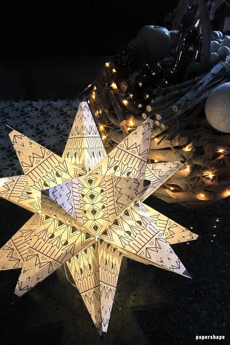 Riesen 3d Stern Falten A La Bascetta Ohne Zusammenstecken Bekannt Aus Ard Buffet Bascetta Stern Basteln Basteln Weihnachten Lichterkette Sterne Falten