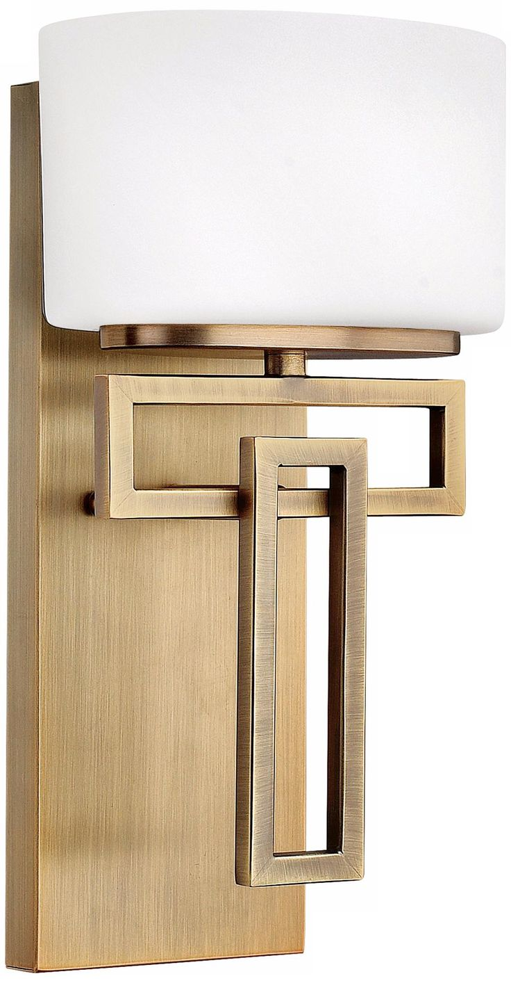 """Hinkley Lanza Brushed Bronze 12"""" High Wall Sconce"""
