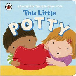 This is a sturdy board book that is great for encouraging toddlers and young children to use the potty. Each chunky double-page spread has a jaunty rhyme introducing a young child and their potty, plus a big touch-and-feel area such as a glittery book, shiny potty, silky hair or soft bear.