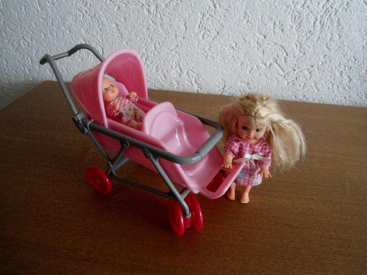 Barbie Shelly Steffi Evi Baby Kinder Zubehör Geschwisterwagen Kinderwagen | eBay