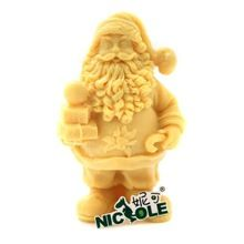 New Santa Claus candle mold DIY silicone cake mold jelly chocolate mould Father Christmas soap molds cake tools S0029SD37(China (Mainland))
