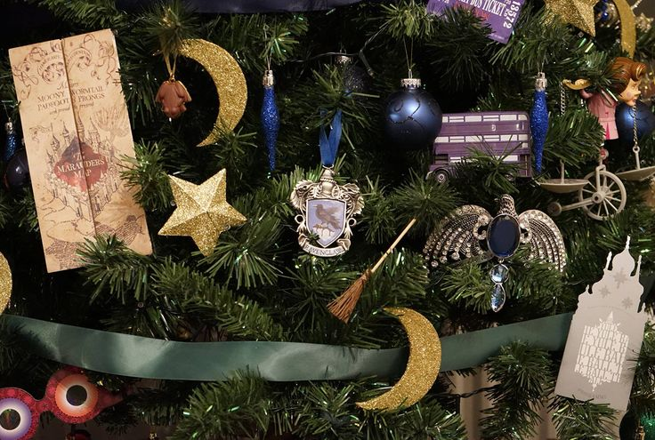 The Maurader's Map makes an appearance together with a Yule Ball flyer, the Knight Bus, Luna Lovegood's Spectraspecs, the Ravenclaw House crest and Rowena Ravenclaw's diadem which is also one of the 7 horcruxes.