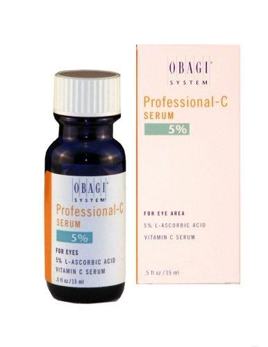 Obagi System Professional-C  5% Vitamin C Serum For Eye Area, 0.5 Fluid-Ounces (15ml) Bottle***Provides antioxidant protection to the delicate eye area,5% L-ascorbic acid helps in defending against damaging UVA and UVB rays,Helps prevent premature signs of aging around the eyes such as fine lines and wrinkles,Contributes to collagen synthesis,Made in USA,.