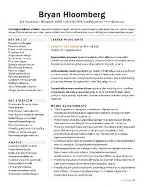career highlights and major achievements as resume headings - Resume Headings