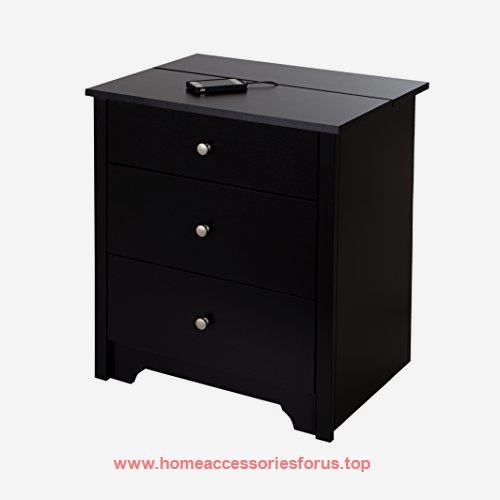 South Shore Vito Nightstand with Charging Station and Drawers, Pure Black  BUY NOW      $129.20      The Vito night stand features modern convenience and transitional craftsmanship, for a great blend of minimalist style and fu ..  http://www.homeaccessoriesforus.top/2017/02/28/south-shore-vito-nightstand-with-charging-station-and-drawers-pure-black/