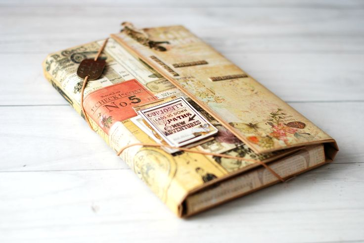 Tutorial para transformar el packaging de las agendas de Mr Wonderful o cualquier otra caja, carpeta o cartón en un bonito Diario de Viaje o álbum para guard...