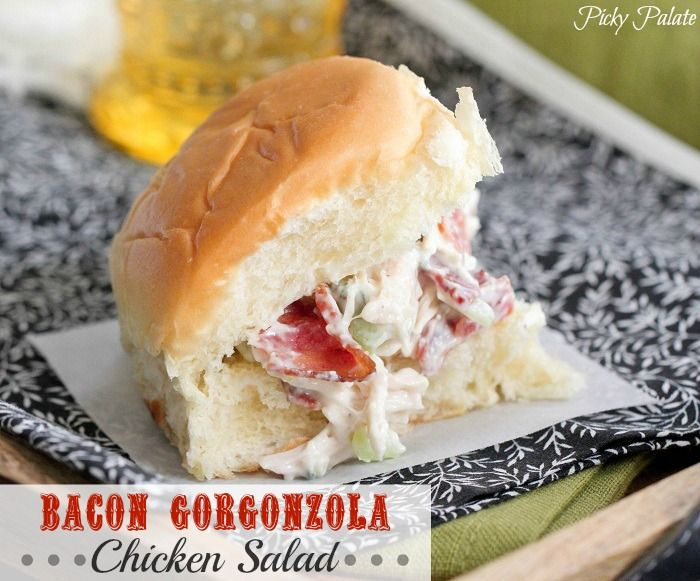 Bacon Gorgonzola Chicken Salad | Bacon, Chicken salads and ...