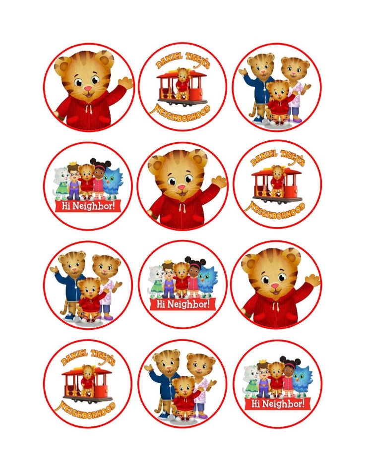 This is a photo of Declarative Daniel Tiger Free Printables