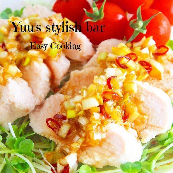 レシピあり!火を使わずに、胸肉でメイン級♡蒸し鶏油淋鶏 | Yuu*さん ...