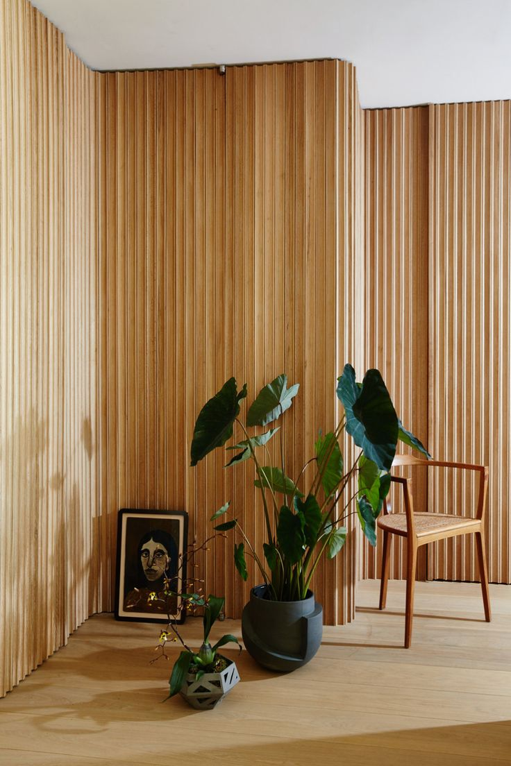 Wood Clad Interior On Jess Anderson Interiors