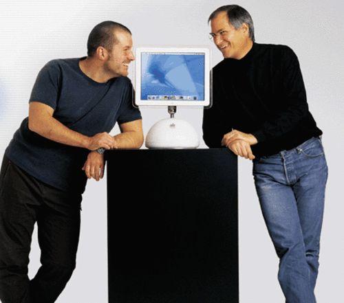 Jonathan Ive & Steve Jobs.
