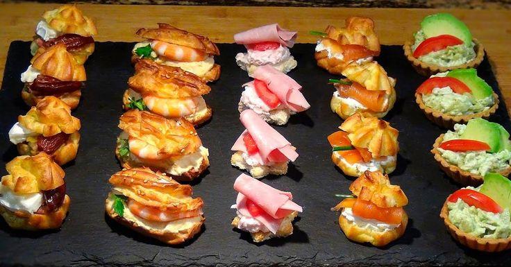 Canapés o aperitivos variados para elegir