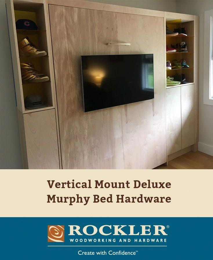 """Vertical Mount Deluxe Murphy Bed Hardware #""""murphybedplansdiy"""