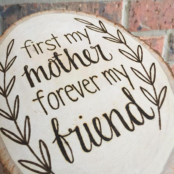 Wooden Sign Mother S Day Gift Mom Gift Woodburned Wood Signs For
