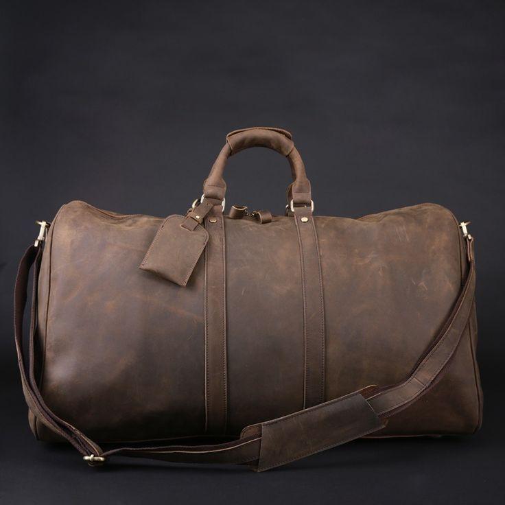 Men S Handmade Vintage Leather Travel Bag Luggage