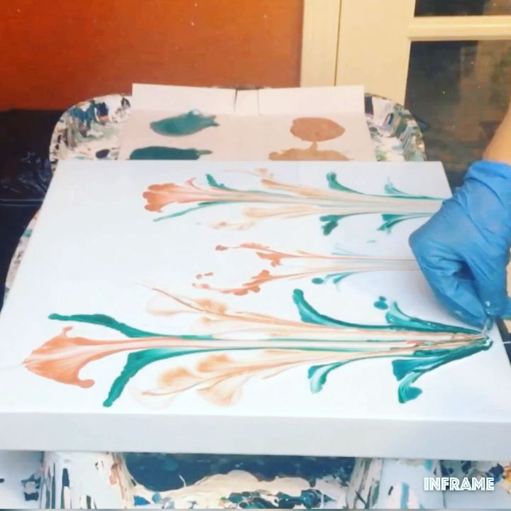 Fluid Acrylic Painting Video – Schnur ziehen