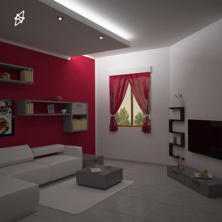 render interno casa privata Maddaloni 3D studio max - vray - photoshop