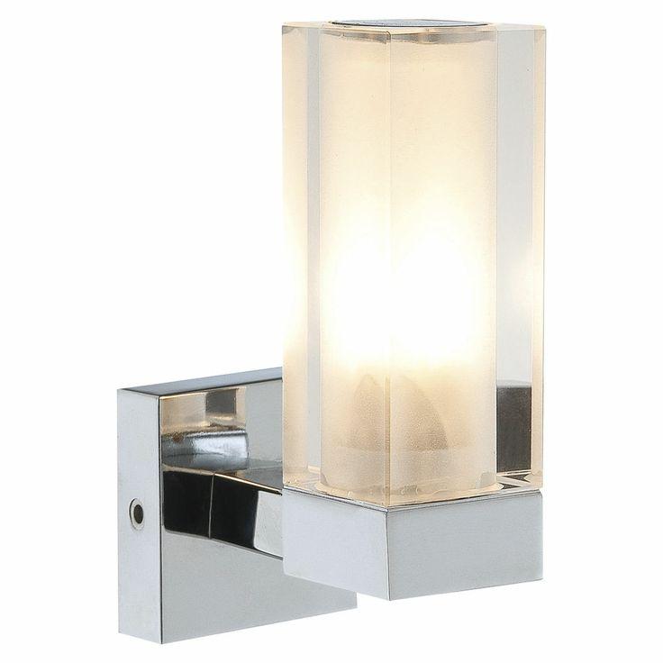 Marvelous Details zu Moderne Wandleuchte chrom Spiegelleuchte Spiegellampe Wandlampe Badlampe