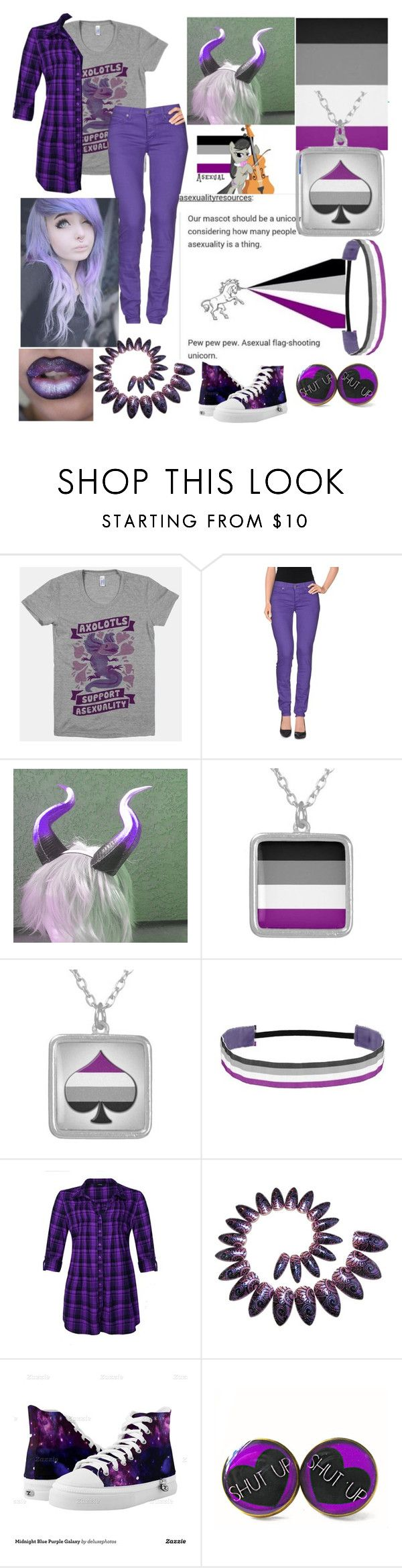 """asexual pride <3"" by xenomorphs4life ❤ liked on Polyvore featuring Cheap Monday"